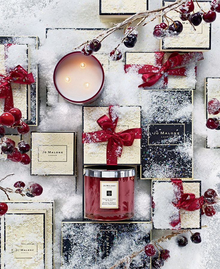 Jo Malone London   Frosted Cherry & Clove Deluxe Candle #FrostedFantasy