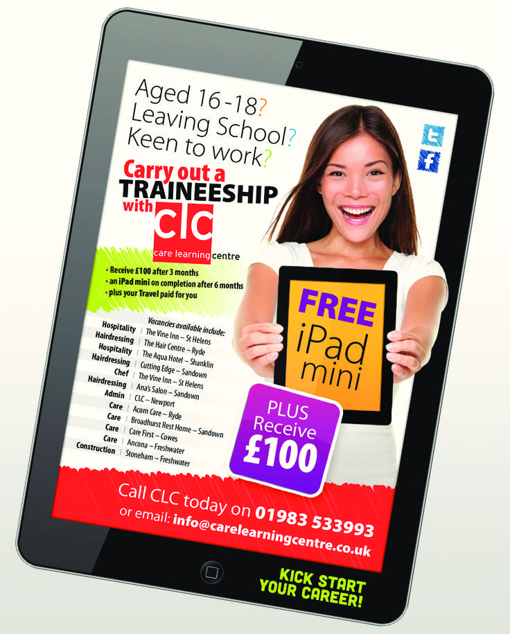 Look out for our #ipad #advert! #traineeships