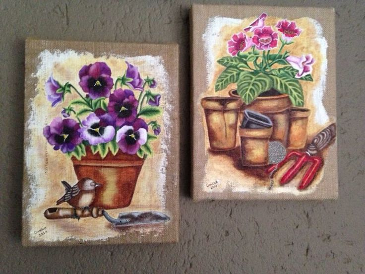 Hessian canvases