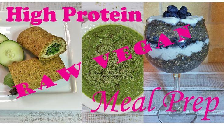 High Protein Raw Vegan Meal Prep #3 HollyBrownFit.com #vegandiet #veganfitness  #veganbodybuilding #veganprotein #veganbikinicompetitormealplan