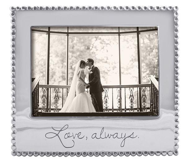 Love Always Beaded 5x7 Frame Frame Gold Picture Frames 5x7 Frames