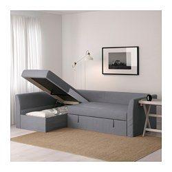 IKEA - HOLMSUND, Sofácama esquina, Ransta blanco, , Funda hecha de algodón duradero con una textura fina y suave.Espacio de almacenaje bajo la chaiselongue. La tapa se mantiene abierta para que puedas meter y sacar cosas de forma segura y cómoda.Puedes adaptar el fondo del asiento y el respaldo a tus necesidades colocando los cojines como más te guste.Puedes situar la sección de chaiselongue a la derecha o a la izquierda del sofá y cambiarla cuando quieras.La funda es fácil de limpiar, ya…