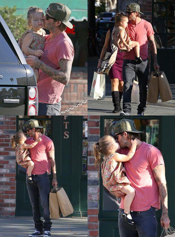 David and Harper Beckham. So cute!