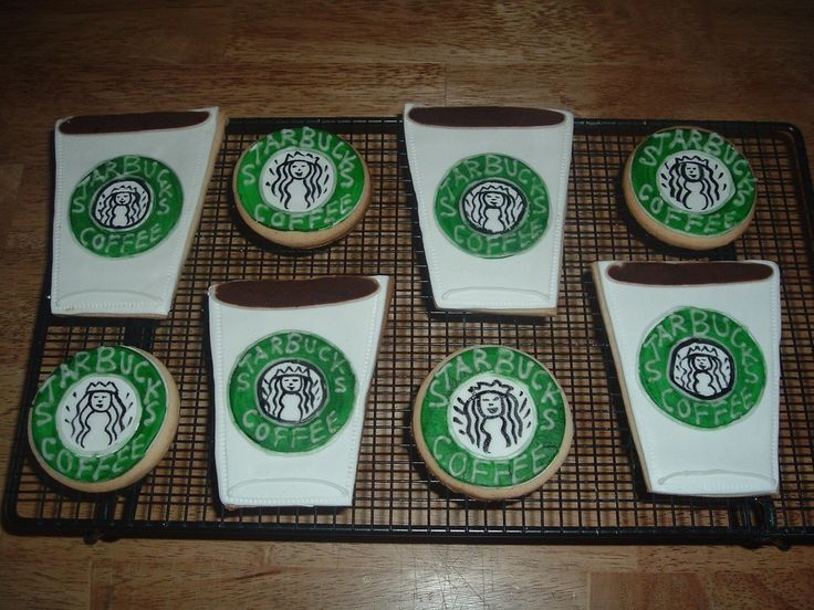 Starbucks Cookies!  Starbucks Cookies! Made these for a starbucks lover! I wish they came out a little neater, but thing they will look better once they are