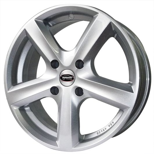 TEAM DYNAMICS CYCLONE SILVER alloy wheels with stunning look for 4 studd wheels in SILVER finish with 15 inch rim size