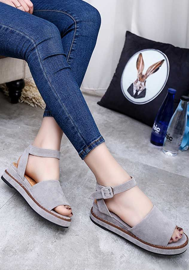 Flat Low Wedge Heel Espadrilles Summer Sandals Shoes. Chirstmas Sale in  Progress. Shop for trendy fashion style shoes for women online at ZNU.