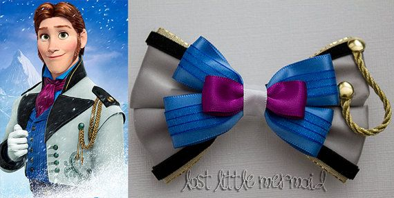 Frozen Prince Hans Inspired Hair Bow by LostLittleMermaid