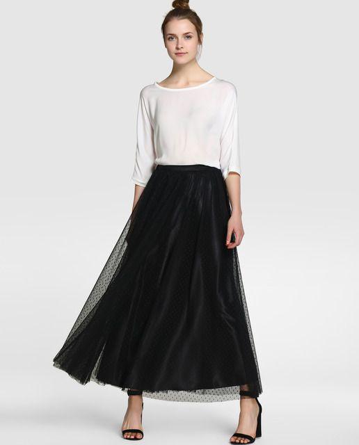 Falda larga de mujer Fiesta El Corte Inglés en tul
