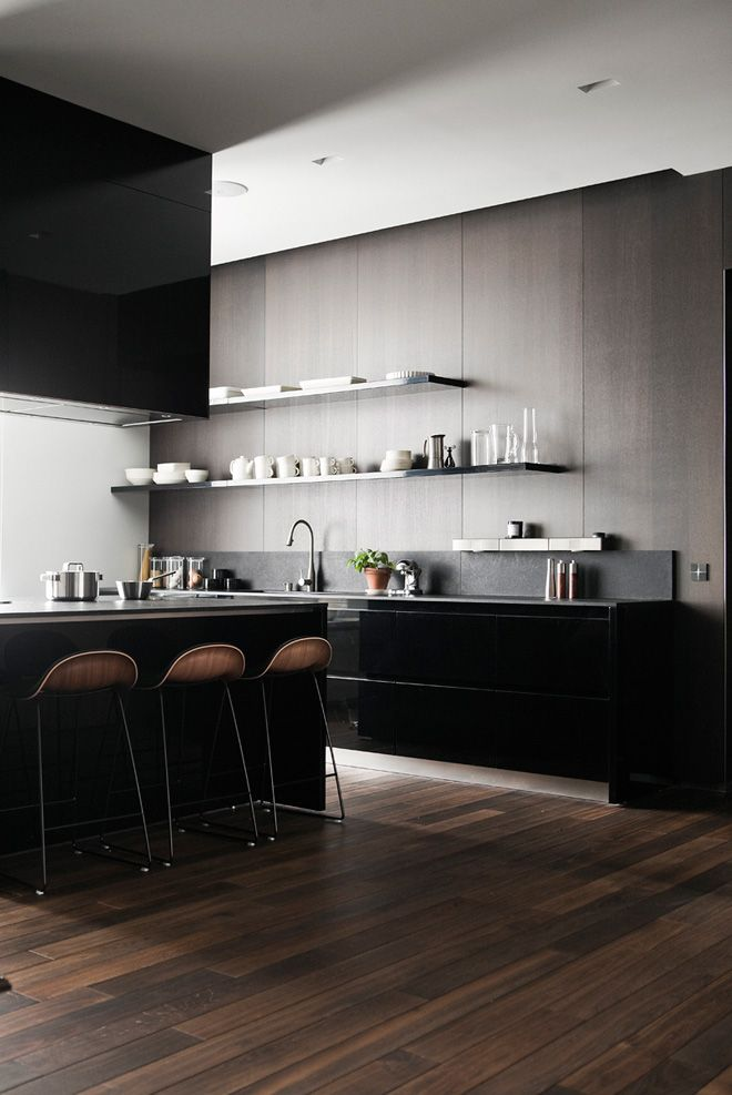 Dark Helsinki kitchen - via Coco Lapine Design