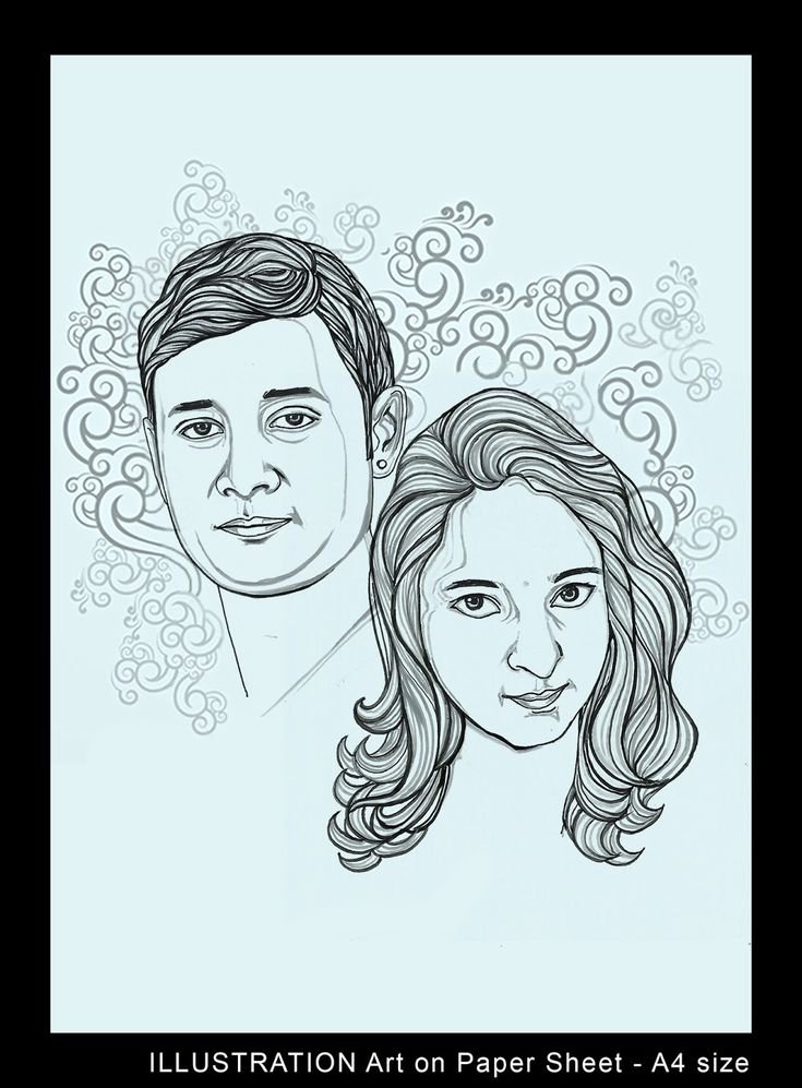Illustrator art line drawing art portrait in hyderabad artnvn
