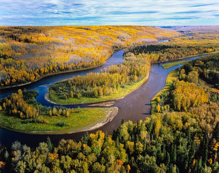 Clearwater river, Northern Alberta, Canada