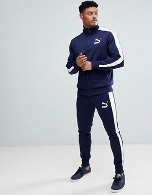 d38a2642 Puma Archive T7 Tracksuit in Navy. Puma Archive T7 Tracksuit in Navy  Chandal Adidas Hombre, Ropa Gym ...