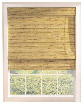 Kona Roman Shade w Built-In Valance in Natura - contemporary - Vertical Blinds - ShopLadder