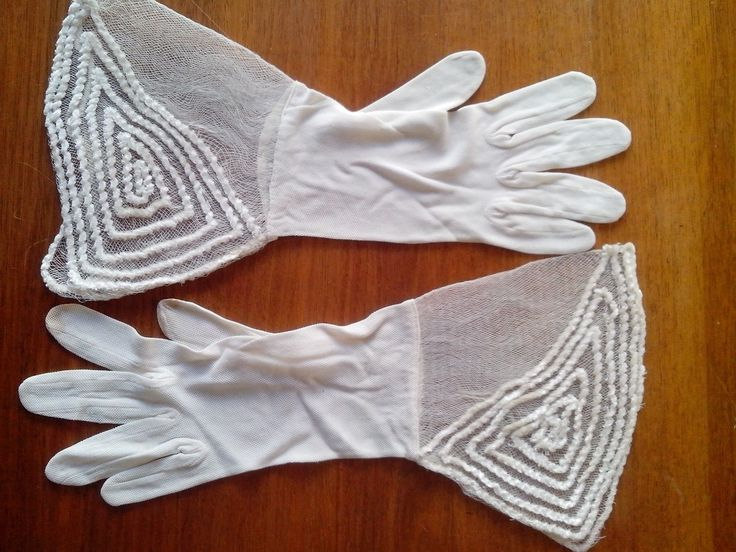 1930,s fabulous cream mesh wedding gloves. Small size. 6/1/2 | eBay