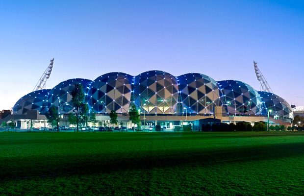 Cox Architects, AAMI Stadium (2011), Melbourne, photographed by Dianna Snape