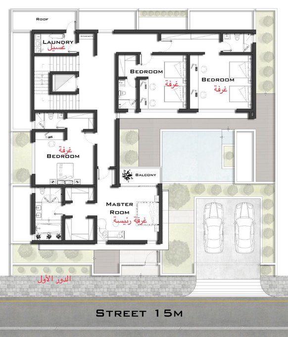 مخططات فلل On Twitter In 2021 Duplex House Design My House Plans 40x60 House Plans