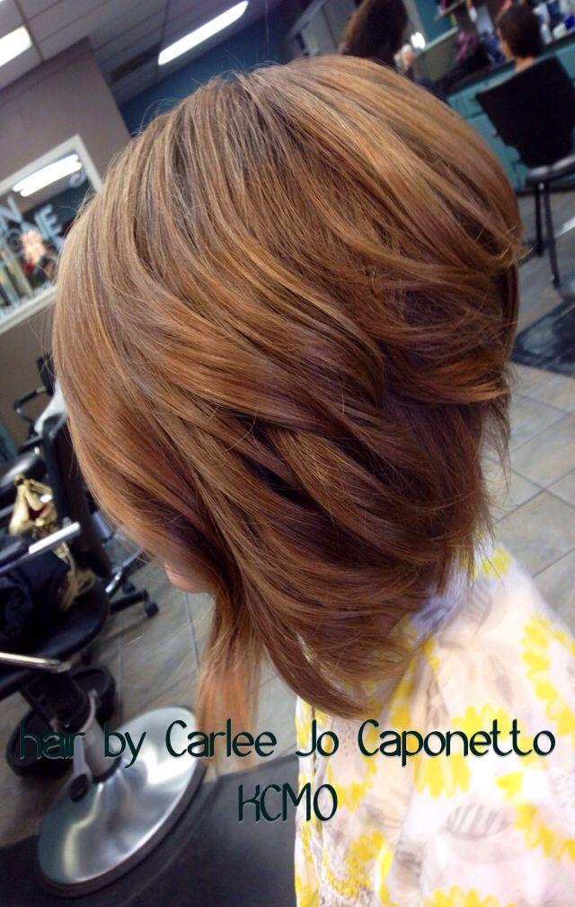 Medium Length Inverted Bob Curly Hair