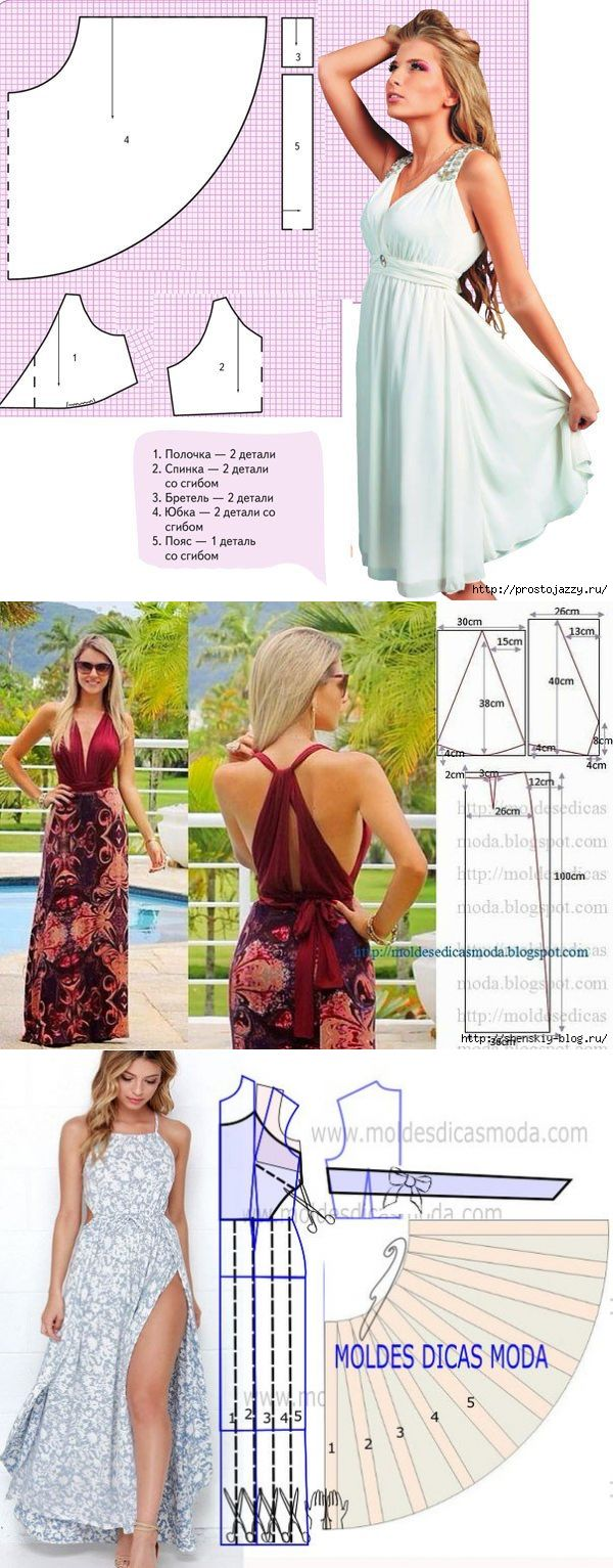 modelli semplici abiti estivi