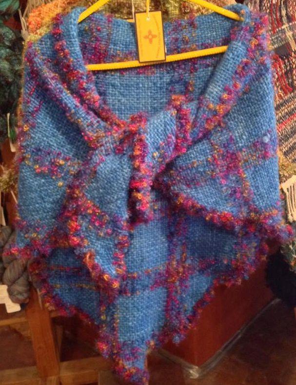 """Triangle Loom"" shawl/wrap...wow, my colors!!"