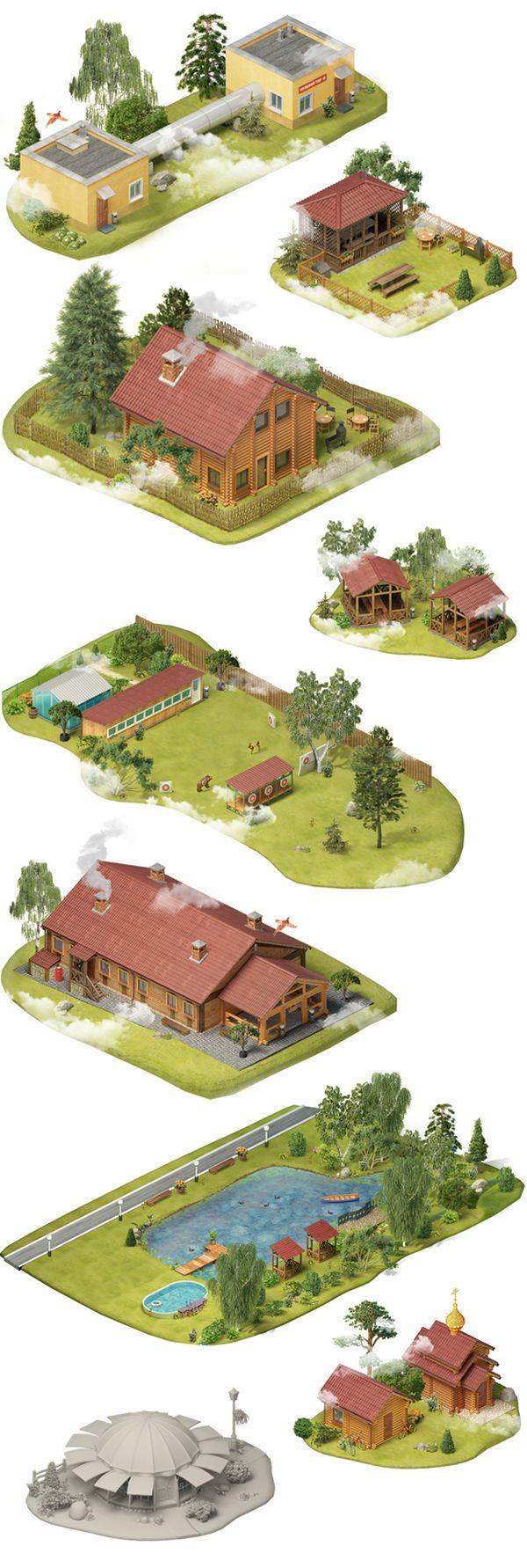 Sporting center map by ILYA Denisenko, via Behance