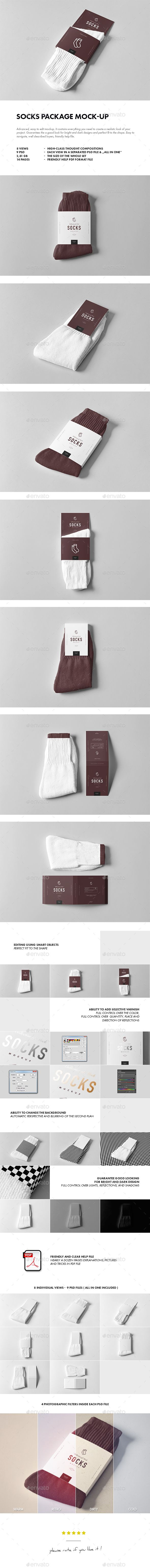 Socks Package Mockup — Photoshop PSD #cardboard #ankle • Download ➝ https://graphicriver.net/item/socks-package-mockup/19837616?ref=pxcr