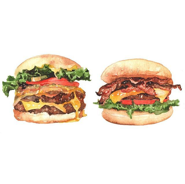 Hamburger illustrations