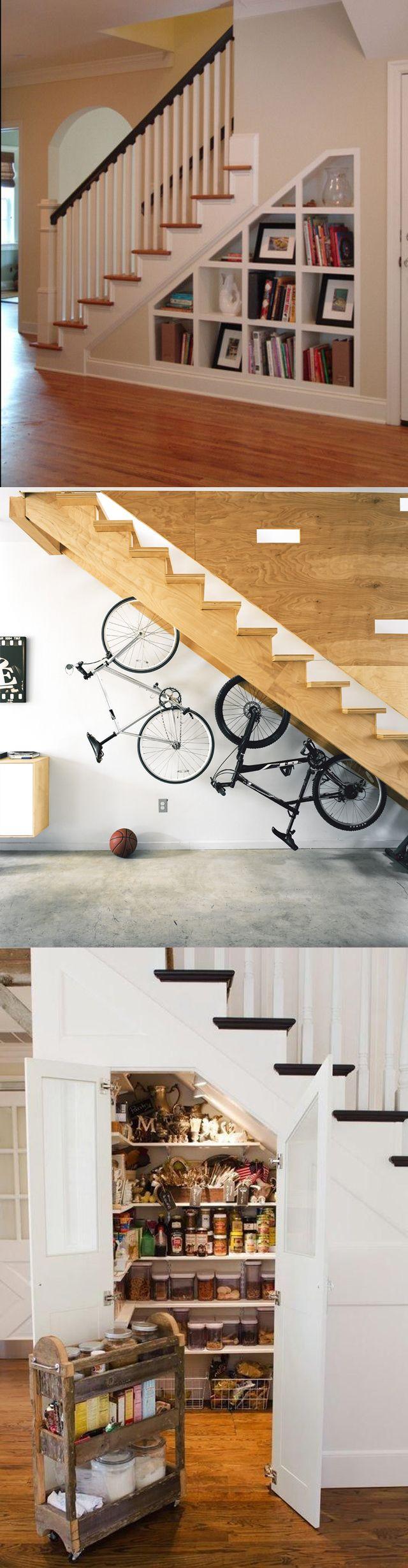 Und was bewahrt ihr unter der Treppe auf? Unten ein paar Beispiele, wie kann man den Raum unter der Treppe benutzen.  Besucht ihr auch unser eBay Shop.  #möbel #küche #deko #hausdeko #wohnzimmer #kommode #regale #lampen #beleuchtung #haus #hängelampe #industrielampe #leuchtmittel