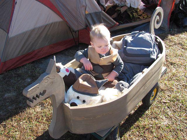 viking baby - Love this Viking ship wagon!!