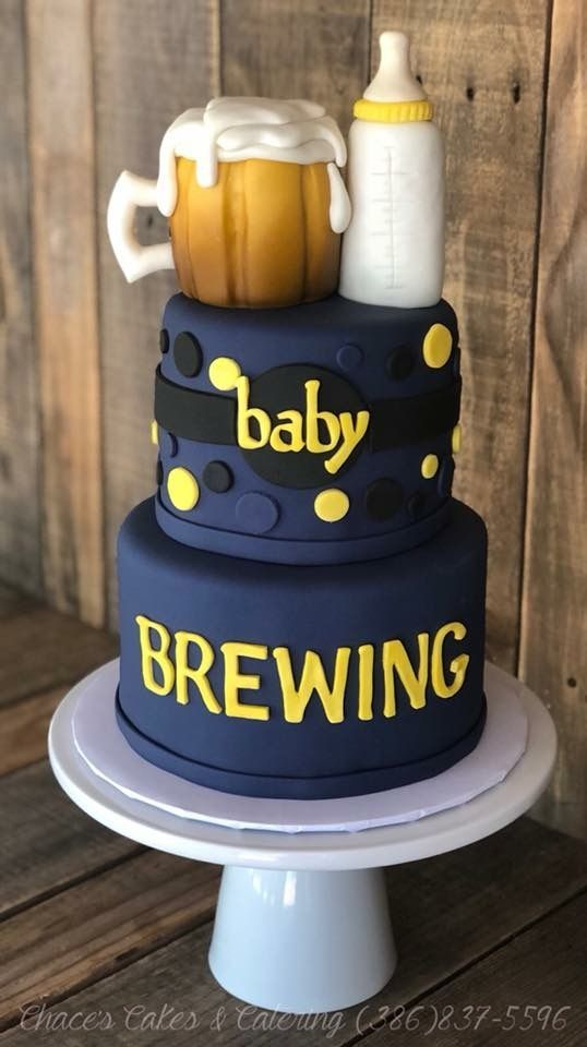 Baby Brewing Baby Shower Cake! www.facebook.com/ …
