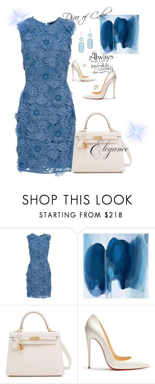 """Just elegant"" by Diva of Cake on Polyvore featuring French Connection, Pottery Barn, Hermès, Christian Louboutin and Anne Sisteron"