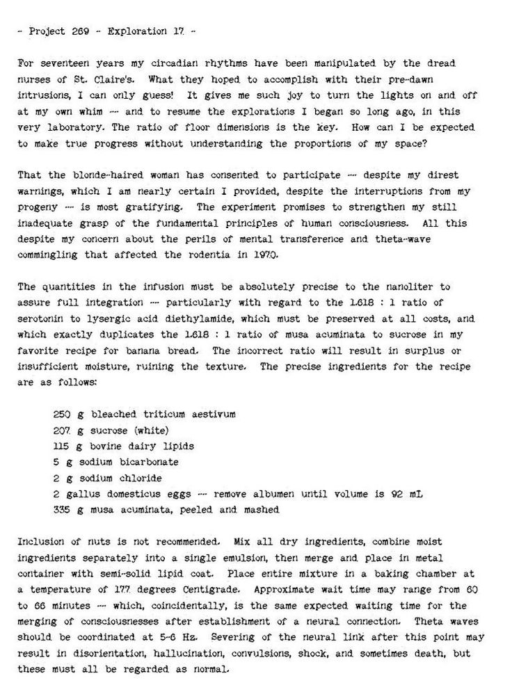 Walter Bishop's Lab Notes