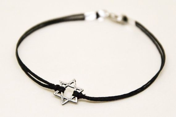 Hanukkah gift Star of David men's bracelet silver gift