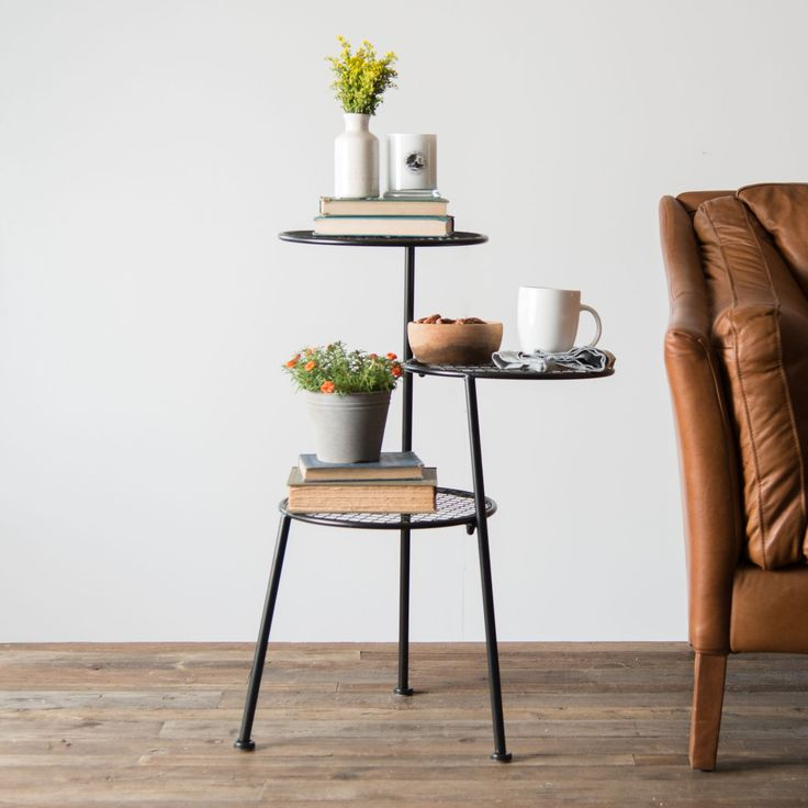 Tiered Metal Accent Table - Magnolia   Chip & Joanna Gaines – Magnolia Market