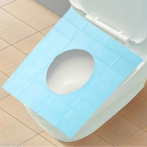 BD Disposable Camping Travel Waterproof Anti-bacterial Paper Toilet Seat Covers
