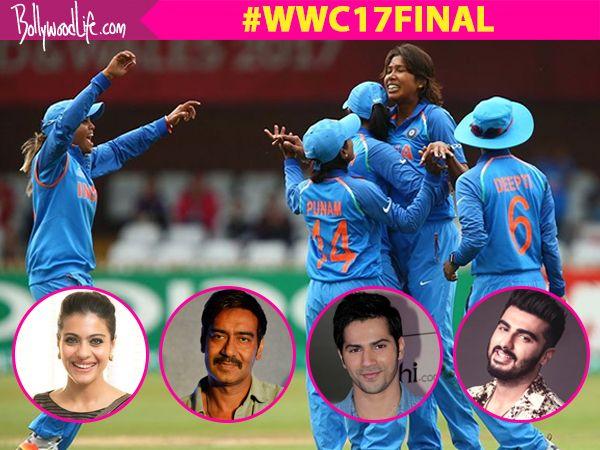 Women's World Cup 2017 Final: Arjun Kapoor, Varun Dhawan, Kajol, Ajay Devgn are screaming C'mon India!!!! #FansnStars