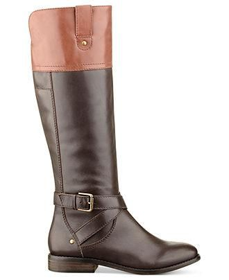 The perfect two-tone riding boot by Marc Fisher