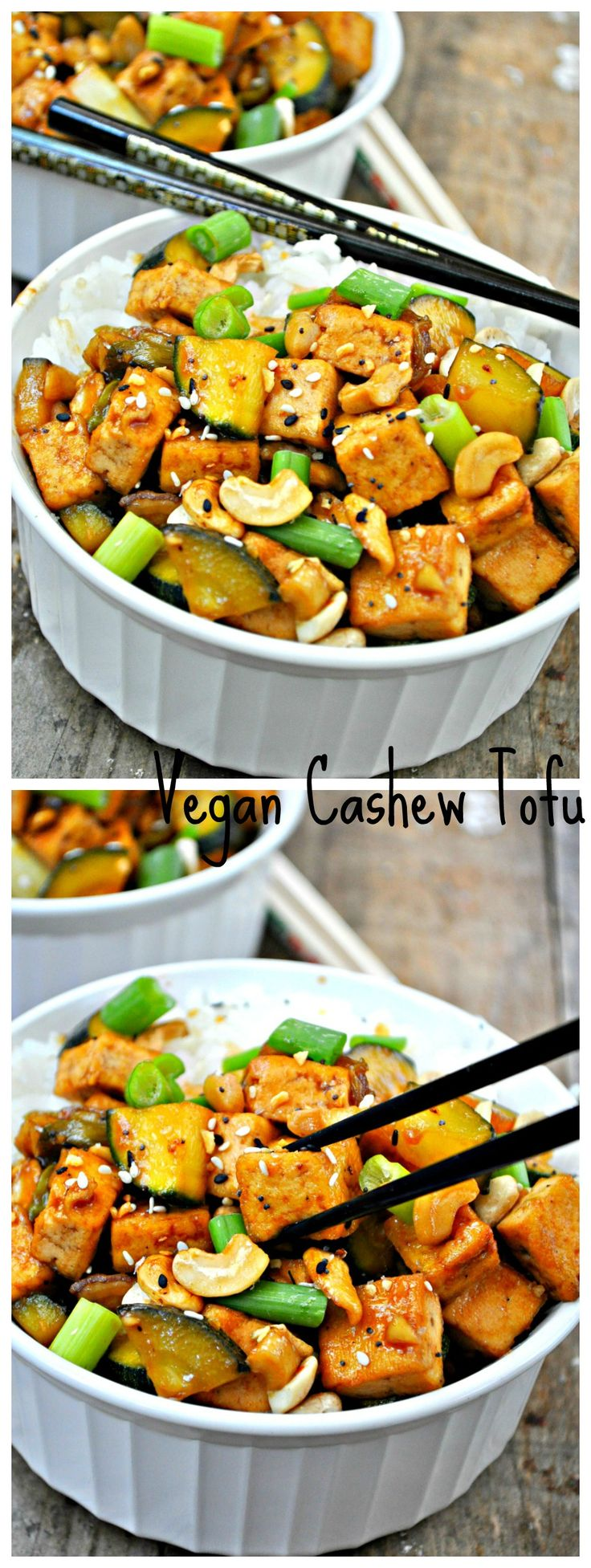 This super-simple, ultra-tasty, cashew tofu recipe is quickly becoming a VegNews staff staple.