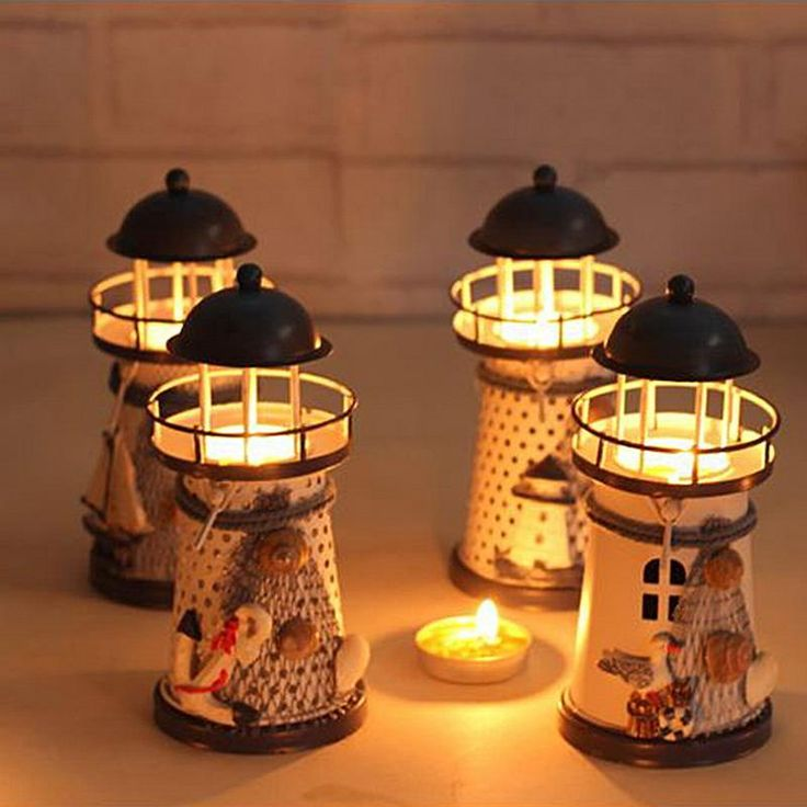 Mediterranean style lighthouse candle holders Best 21 Candles