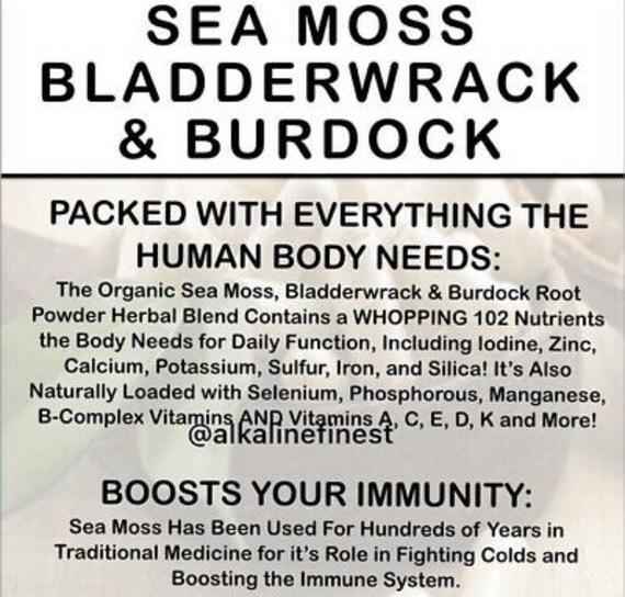 Dr Sebi Sea Moss And Bladderwrack Powder Sea Moss Irish Moss Recipes Irish Moss