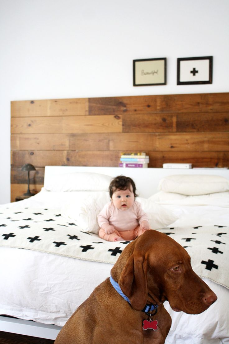 I admit it. I mainly pinned this for baby's face. Sam & Anne's Cozy Modern Blend House Tour   Apartment Therapy