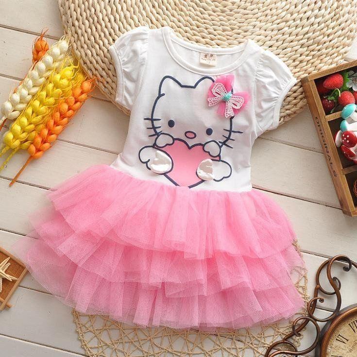 Hello Kitty Ruffled TuTu Dress with 3D Bow
