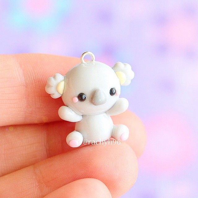 Hi everyone! Here is a little polymer clay koala charm I made which was part of my new remake tag videos I have been uploading! I really love how this little guy turned out #polymerclay #polymer #clay #cute #kawaii #koala #art #craft #handmade #polymerclaycharms #sculpey #fimo #premo