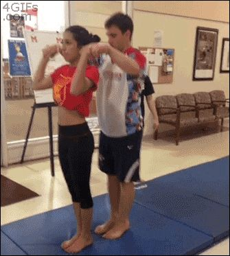 Awesome gymnastics trick