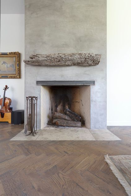The classic Rumford Fireplace pushes heat into the room and easily warms the living room and kitchen