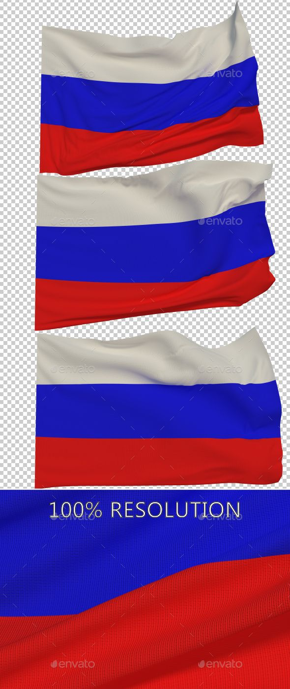 Flag of Russia - 3 Variants