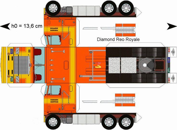 free download paper model trucks