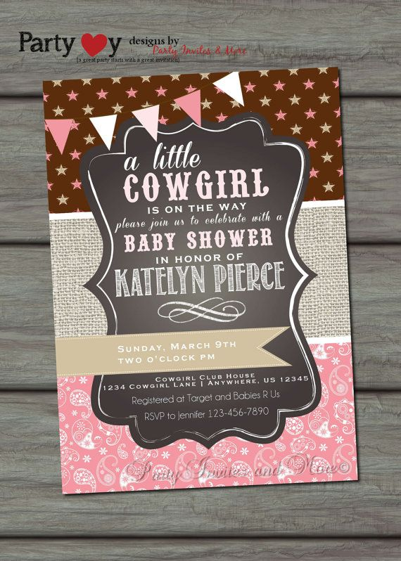 cowgirl baby shower invitation paisley baby shower invitation cowgirl baby shower western baby shower burlap baby shower invitation
