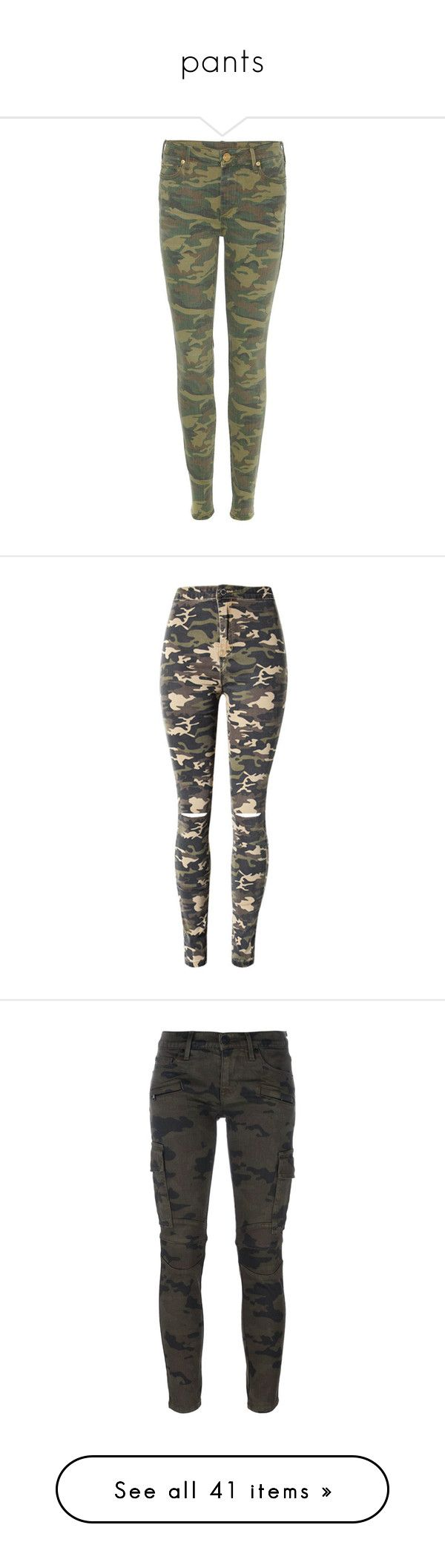 """""""pants"""" by senedjara on Polyvore featuring jeans, pants, green, camouflage jeans, camo print skinny jeans, true-religion skinny jeans, camo skinny jeans, camoflage jeans, destroyed jeans e high waisted ripped jeans"""