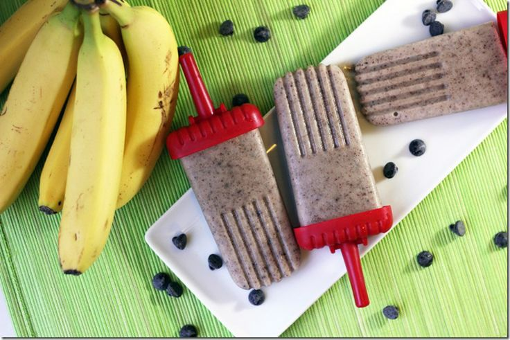 Chocolate Banana Frozen Yogurt Popsicles | From the Little Yellow Kitchen