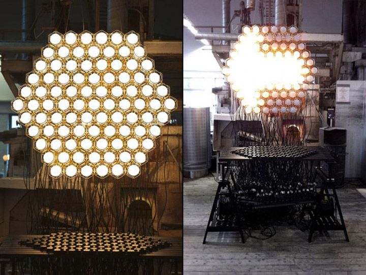 Work Lamp Light Jockey installation by Form Us With Love for Design House Stockholm, 2011.